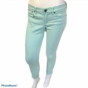 💙 J. Crew Mint Green Ankle Toothpick Jeans - 28